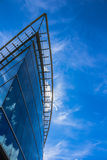 Blue glass building (business center) Royalty Free Stock Photos