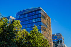 Blue glass business building (business center) Royalty Free Stock Photo