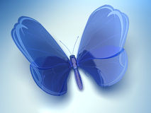 Blue glass butterfly Royalty Free Stock Photography