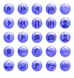 Blue Glass Buttons. Buttons for use on a website Stock Illustration