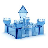 Blue glass castle. On a white background royalty free illustration