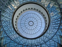 Blue glass ceiling Royalty Free Stock Photo