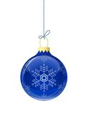 Blue glass christmas ball Stock Photos