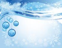 Blue glass christmas balls Stock Image