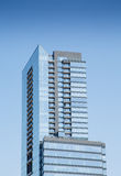 Blue Glass Condo Tower with Balconies Royalty Free Stock Photos
