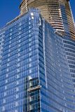 Blue Glass and Construction Tower Royalty Free Stock Image
