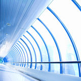 Blue glass corridor Stock Image