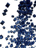 Blue Glass Cubes Falling Royalty Free Stock Image