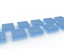 Blue glass cubes Stock Images