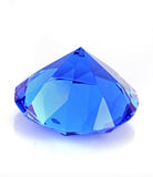 blue glass  diamond Royalty Free Stock Photo