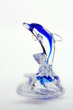 Blue glass dolpin figurine Royalty Free Stock Photos