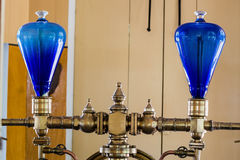 Blue glass domes Stock Photo