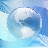Blue Glass Earth. Illustration of blue glass on the Earth abstract background stock illustration