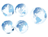 Blue glass earth. Multiple views of see-through, glass-like earth - vector eps8 included vector illustration