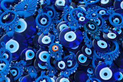 Blue glass eye Stock Photos
