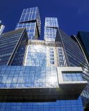 Blue glass facades of skyscrapers Stock Photo