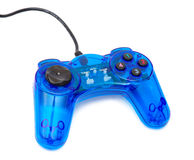 The blue glass game controler. On a white background Royalty Free Stock Images