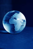 Blue glass globe. High resolution image royalty free stock photos