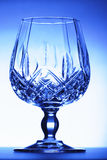 Blue glass goblet Royalty Free Stock Image