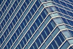Blue glass high rise building skyscrapers Stock Photography
