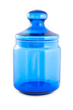 Blue glass jar Stock Images