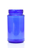 Blue glass jar. On white background Royalty Free Stock Image