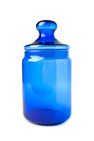 Blue glass jars royalty free stock images