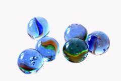 Blue, Glass, Marbles, Kids, Games Royalty Free Stock Photography