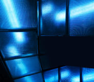 Blue glass modern background Royalty Free Stock Image