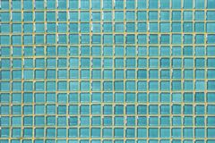 Blue glass mosaic Stock Photography