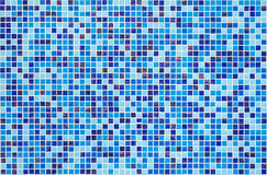 Blue glass mosaic Stock Photos