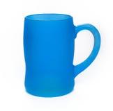 Blue glass mug Stock Photography