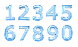 Blue glass numeral. On the white background Stock Images