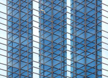 Blue glass office Stock Photography