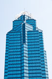 Blue Glass Office Tower Royalty Free Stock Photos