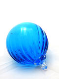 Blue Glass Ornament Royalty Free Stock Photography