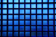 Blue glass pattern Stock Images