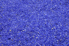 Blue glass pebbles. For external space design stock images