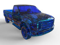 Blue glass pickup truck Stock Images