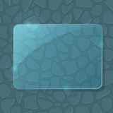 Blue Glass Piece at Stone Seamless Wall Royalty Free Stock Images