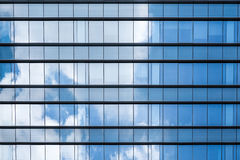 Blue glass reflection Royalty Free Stock Photo