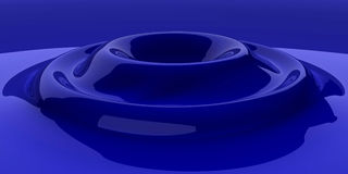Blue Glass Ripple Stock Photography