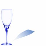 Blue glass with room for text. On white background, abstract vector art illustration Royalty Free Stock Photography