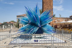 Blue glass sculpture in Murano, Venice, Italy Royalty Free Stock Images