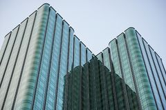 Blue Glass Skyscraper royalty free stock photo