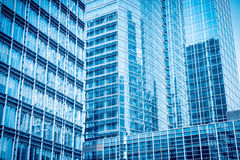Blue glass skyscraper Royalty Free Stock Photos