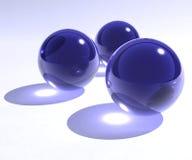 Blue glass spheres. Blue glass transparent 3d spheres vector illustration