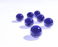 Blue glass spheres Stock Photo