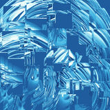 Blue glass squares. Abstract background of blue glass squares Stock Photos