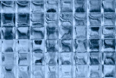 Blue glass squares. Blue glass squares pattern background Royalty Free Stock Photo